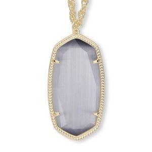 Kendra Scott Elise Pendant Necklace in Slate